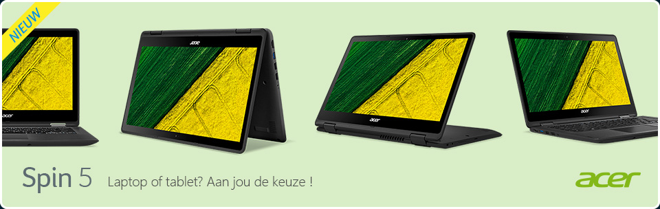 Acer Spin-serie - 2-in convertible notebooks
