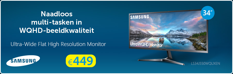 Samsung Curved Ultra-Wide Monitor LS34J550WQUXEN