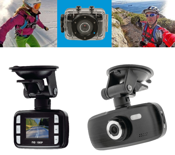 Action camera's en dashboard camera's